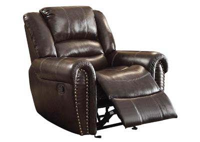 Center Hill Dark Brown Glider Reclining Chair
