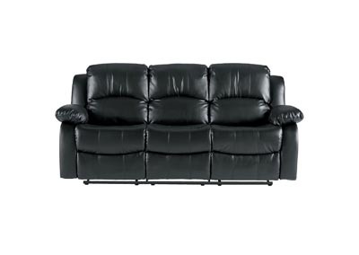 Granley Black Double Reclining Sofa