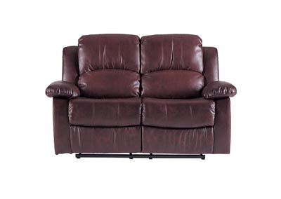 Cranley  Brown Double Reclining Love Seat