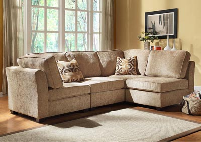 Image for Burke Modular Chenille 4 Piece Sectional