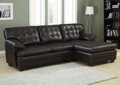 Brooks Rich Dark Brown Sectional