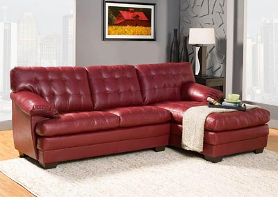 Brooks Red Sectional