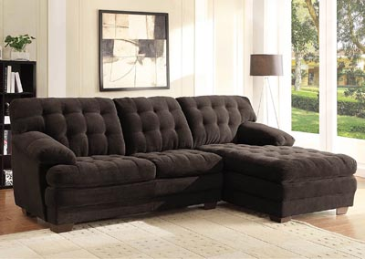 Brooks Chocolate Sectional