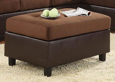 Comfort Living Chocolate/Dark Brown Ottoman