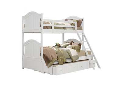 Image for Clementine White Twin/Full Bunk Bed
