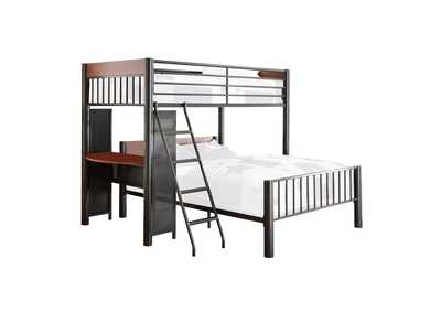 Image for Division Graphite Twin/Full Loft Bed