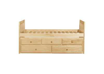 Bartly Pine Twin/Twin Trundle Bed W/ Two Storage Drawers