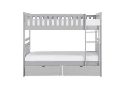 Image for Orion Grey Twin/Twin Bunk Bed W/ Storage Boxes