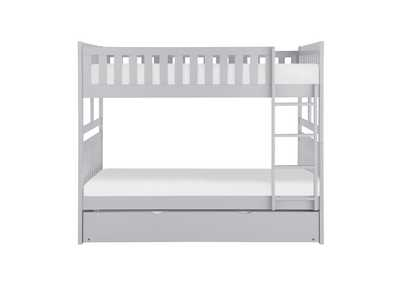 Image for Orion Grey Full/Full Bunk Bed W/ Twin Trundle