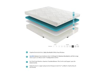 "Image for Bedding White 10"" Gel Full Mattress"