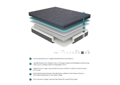 "Image for Bedding Grey 8"" Gel Hybrid Full Mattress"