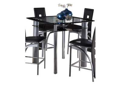 Image for Sona Black Counter Height Table W/ Glass Top