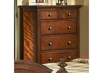 Aris Warm Brown Cherry Drawer Chest