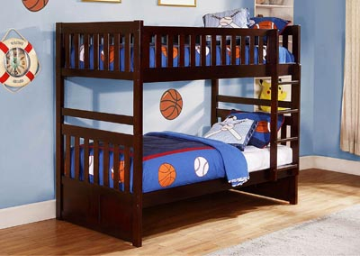 Rowe Dark Cherry Twin/Twin Bunk Bed