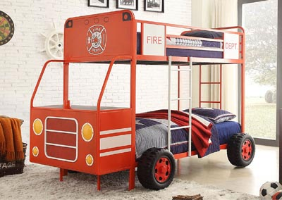 Gibson Home Store Engine One Twin Twin Fire Truck Bunkbed