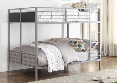 Dex Silver Full/Full Folding Bunkbed