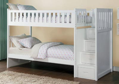Bunk Bed w/Reversible Step Storage