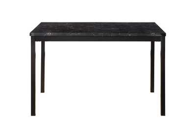 Image for Tempe Black Faux Marble Top Dining Table