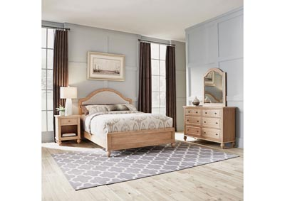 Image for Cambridge Whitewash Queen Bed, Ngt Std, Dresser/Mi by Homestyles
