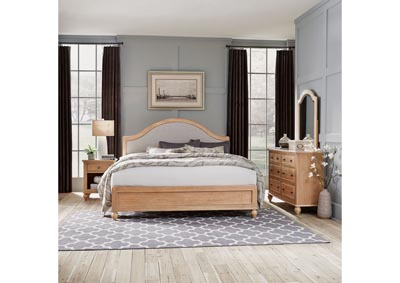 Image for Cambridge Whitewash King Bed, Ngt Std, Dresser/Mir by Homestyles