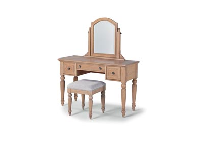 Image for Cambridge Whitewash Vanity/Mirror & Bench by Homestyles
