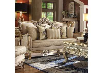 Image for Metallic Bright Gold Loveseat