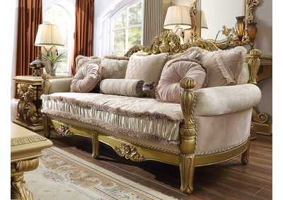 Image for Metallic Bright Gold Sofa