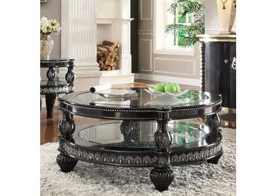 Image for Black Enamel & Silver Coffee Table