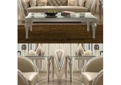 Image for Antique White 3 Piece Coffee Table Set