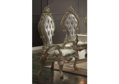 Image for Champagne Gold Arm Dining Chairs [Set of 2]