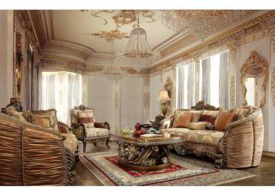 Image for Antique Gold 3 Piece Sofa Set