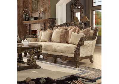 Image for Antique Gold & Brown Sofa