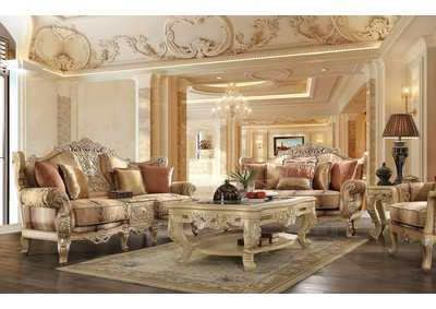 Image for Gold 3 Piece Sofa Set