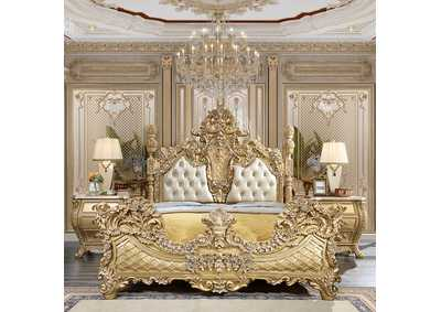 Image for Metallic Antique Gold California King Bed