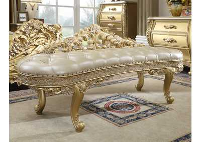 Image for Metallic Antique Gold Bench