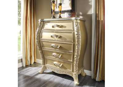 Image for Metallic Antique Gold Chest