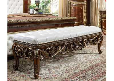 Image for Burl & Metallic Antique Gold Bench