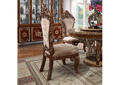 Image for Dark Mocha & Metallic Antique Gold Side Chairs [Set of 2]