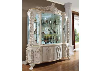 Image for Antique White & Gold China Cabinet