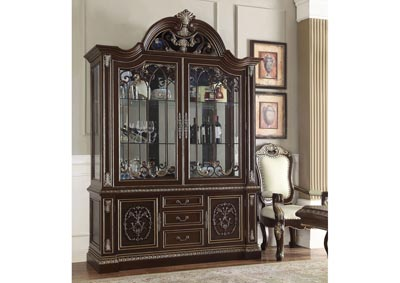Image for Brown Cherry & Silver China Cabinet