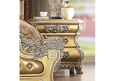 Image for Metallic Bright Gold Nightstand