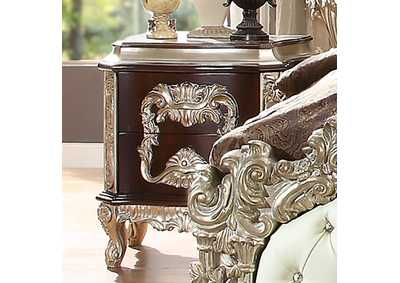 Image for Metallic Silver Nightstand