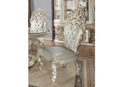 Image for Metallic Silver Side Chairs [Set of 2]