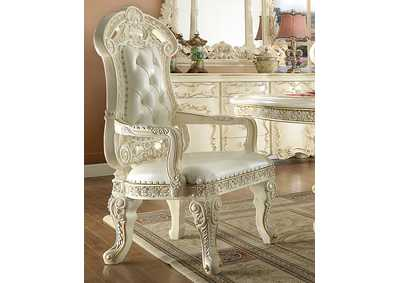 Image for White Gloss Dining Table w/2 Arm Chairs & 4 Side Chairs