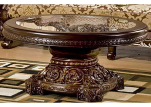 Dark Red Mahogany Coffee Table