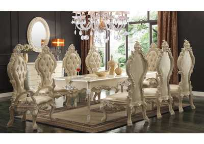 Image for Antique White 9 Piece Dining Set W/ 8 Chairs