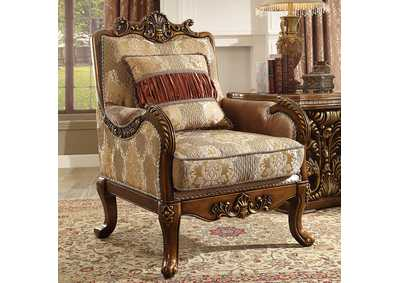 Image for Antique Gold Arm Chair