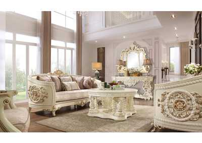 Image for Cream 3 Piece Sofa Set