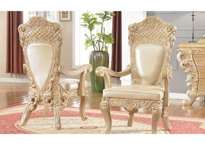 Pickle Frost & Antique Silver Arm Chair (Set of 2)