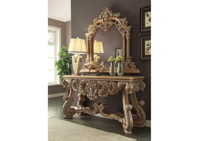 Pickle Frost & Antique Silver Console Table